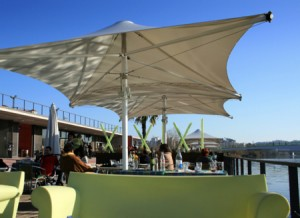 Terraces overlooking Mondego River just 200 meters from Hotel Oslo