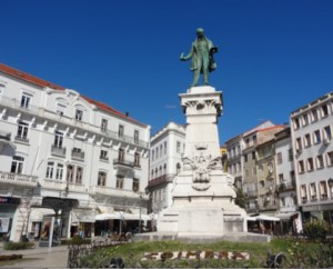 Sunny terraces near the hotel at Largo da Portagem in Coimbra