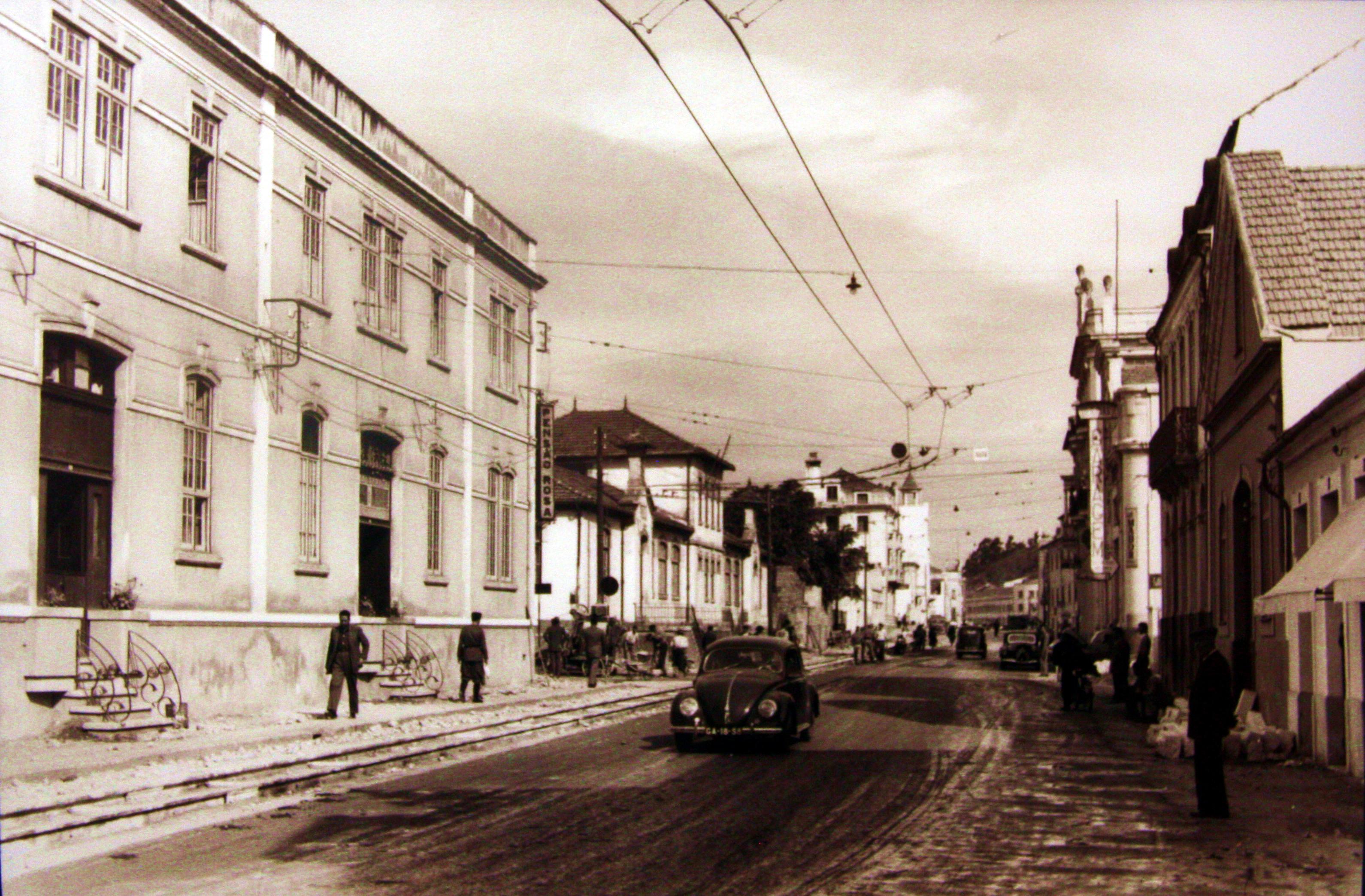 Foto antiga da baixa de Coimbra - Hotel Oslo