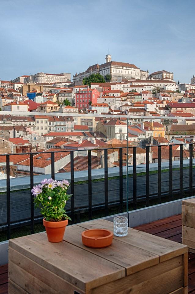 Terraza panoramica Coimbra - Hotel Oslo